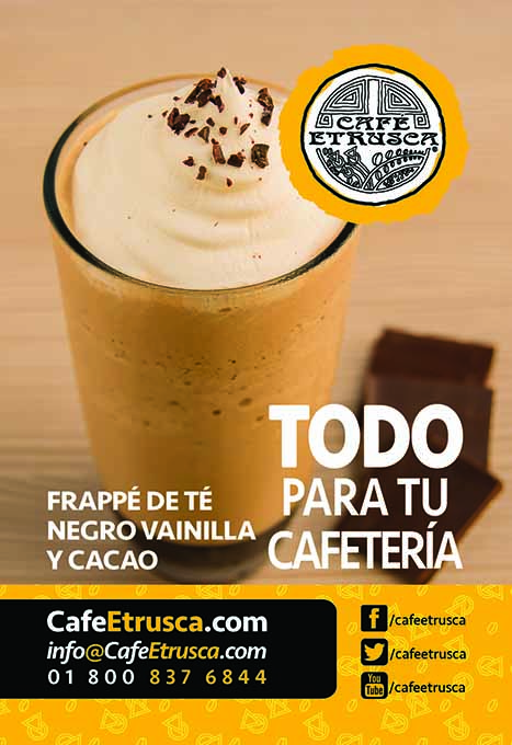 Frappé de Té Negro, Vainilla y Cacao