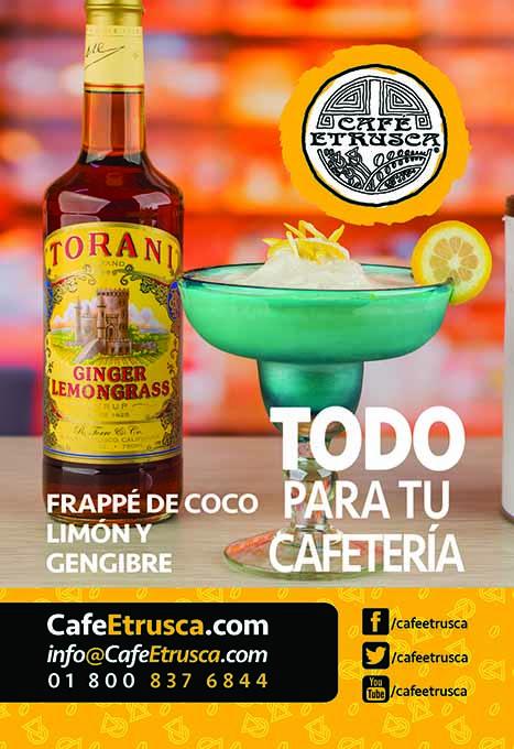 Frappé de Coco, Limón y Jengibre