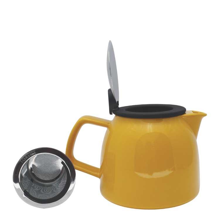 Accesorios para preparar té - Forlife Jarra infusora de cerámica con tapa metalica 710 ml