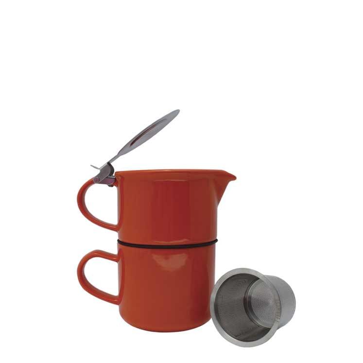 Accesorios para preparar té - Forlife Tetera con taza de cerámica 414 ml