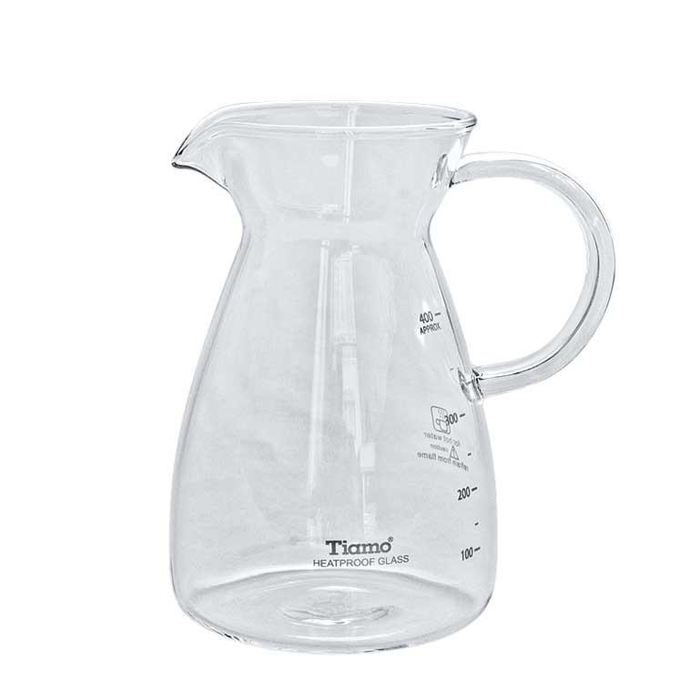 Accesorios para preparar té - Tiamo Jarra infusora de vidrio 400 ml