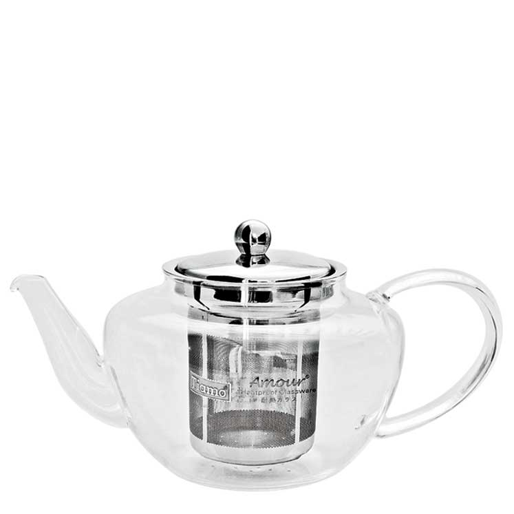 Accesorios para preparar té - Tiamo Tetera con filtro metalico