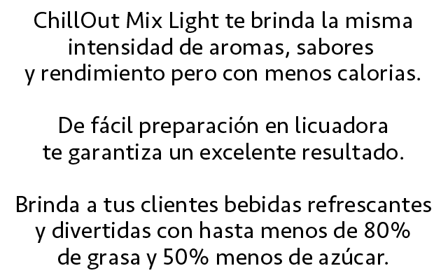 Descripción ChillOut Mix Light