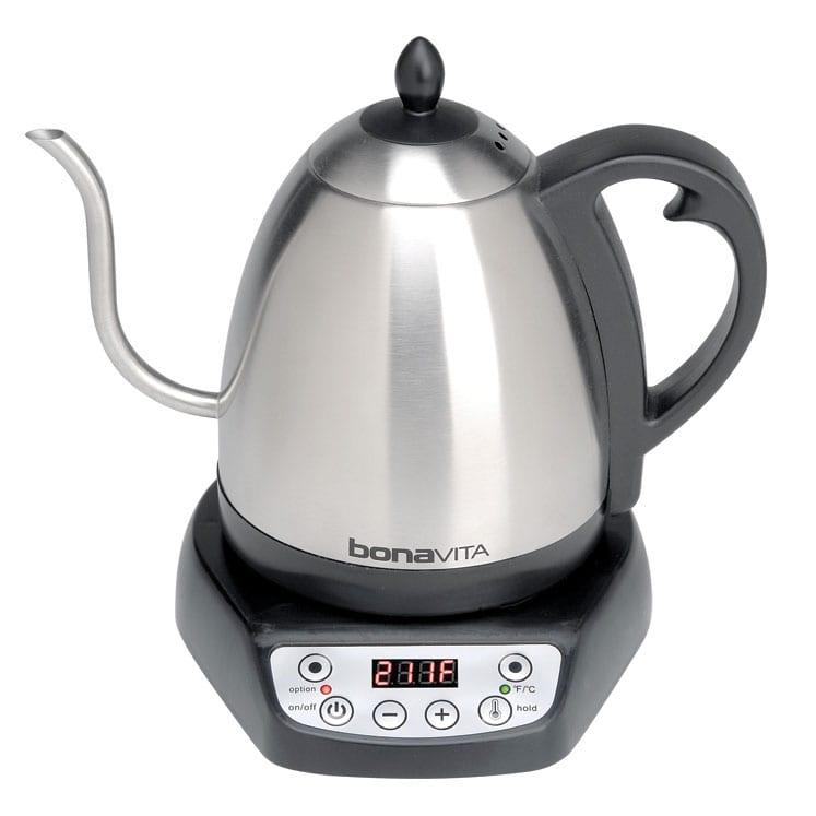 Bonavita gooseneck kettle jarra electrica para agua de 1000 mililitros con cuello de ganso