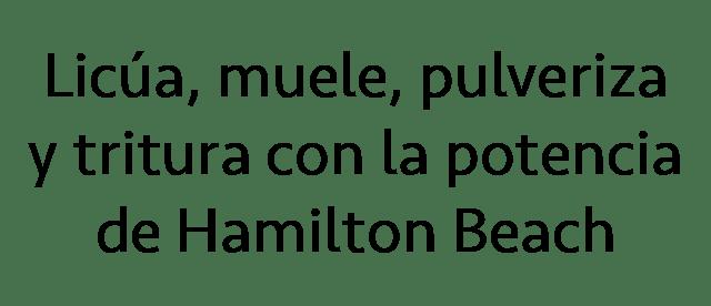 Hamilton Beach Licuadoras