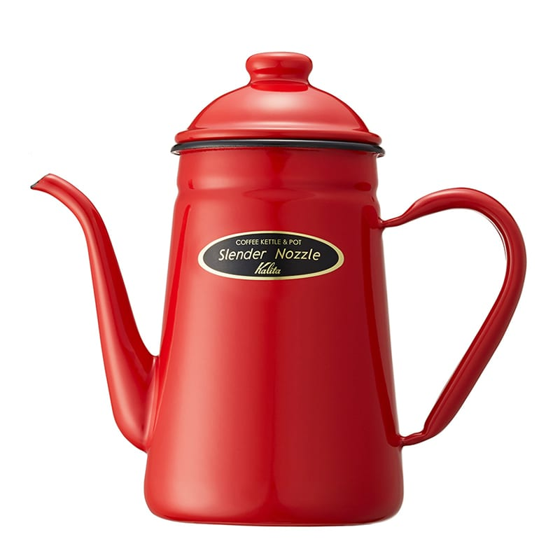 Jarra Kalita Enamel Thin Spout Pot 1000 ml Roja