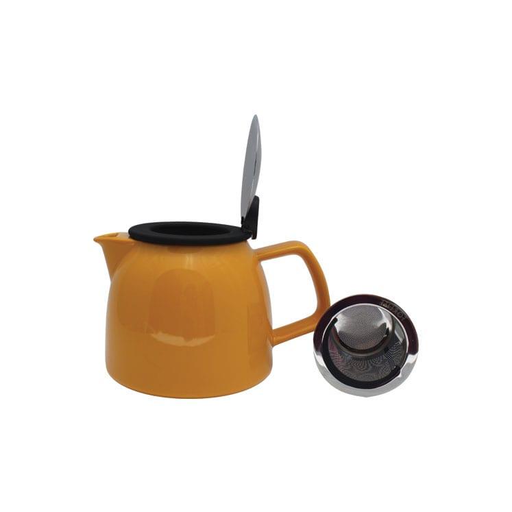 ForLife Jarra infusora de cerámica con tapa de metal y sello de goma 710 ml