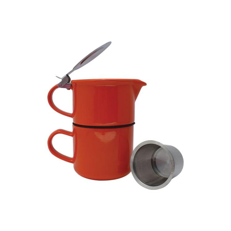 ForLife Tetera con taza de cerámica 414 ml