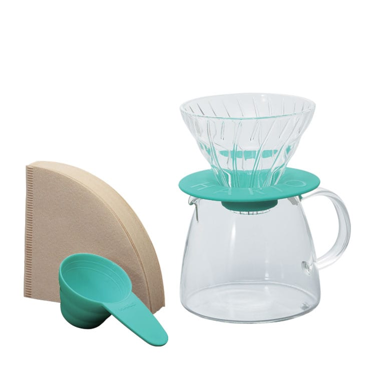 Hario Set Dripper V60 Plástico con Jarra 360 ml