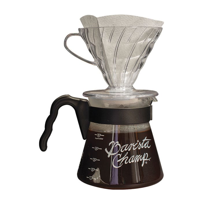 Hario Set Dripper V60 con Jarra Barista Champ