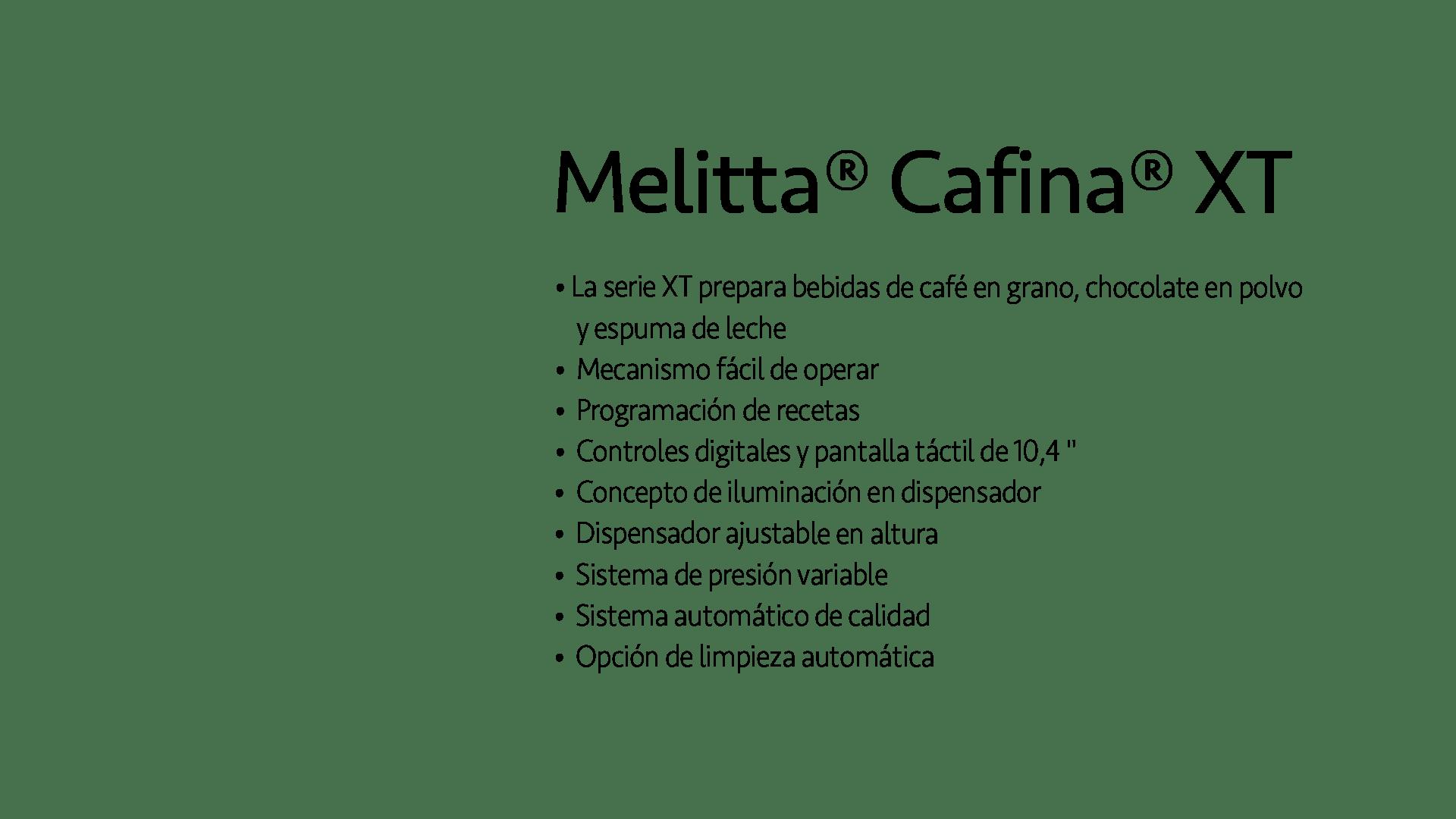 Máquinas de espresso súper automáticas Melitta XT8