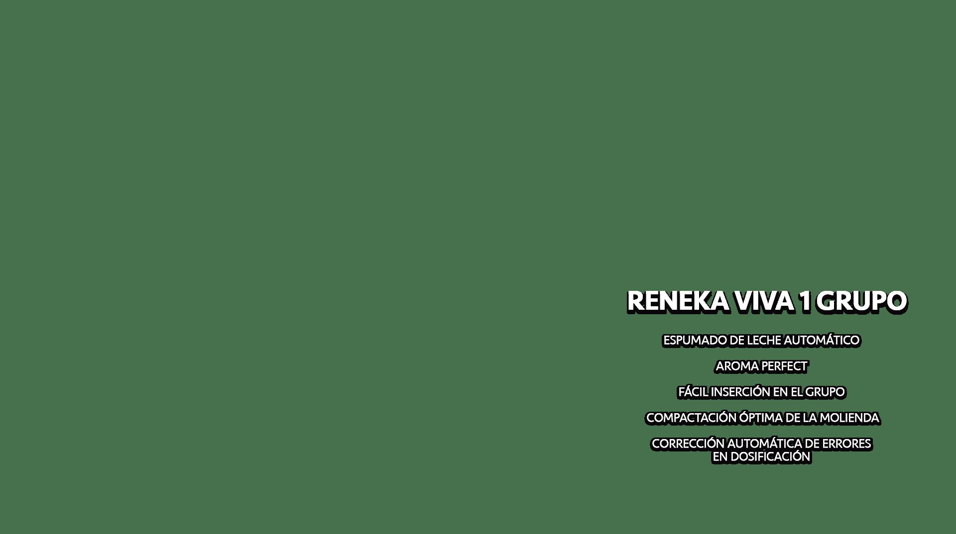 Maquina de espresso Reneka Viva 1 Grupo Texto