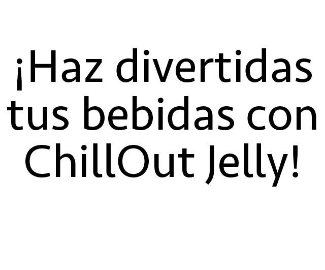 ChillOut Jelly - Deliciosos Trocitos de Jalea Para Tus Bebidas Descripcion