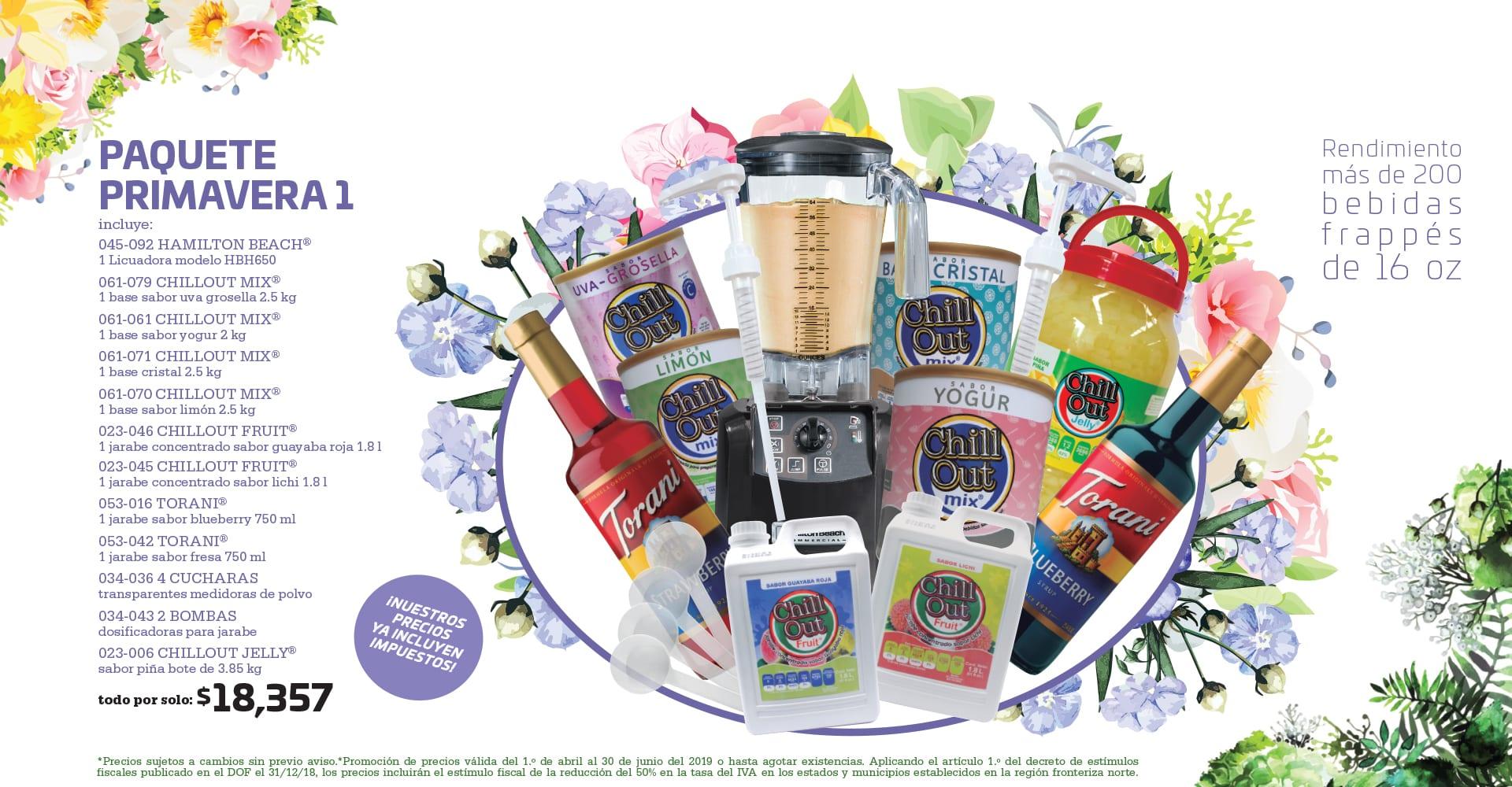 Paquete primavera 1 Ofertas para cafeterías
