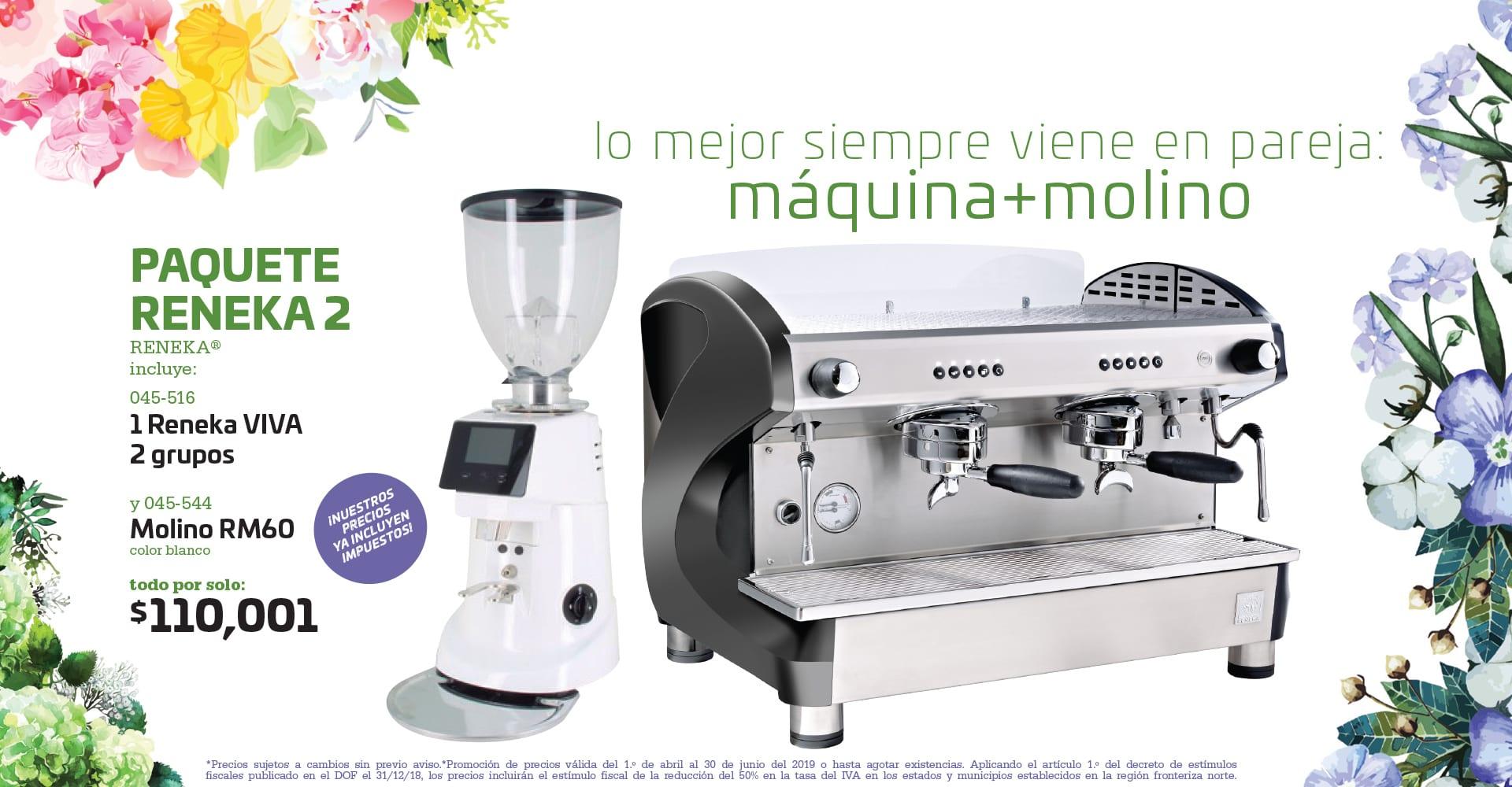 Paquete Inicio Cafetería Reneka RM60