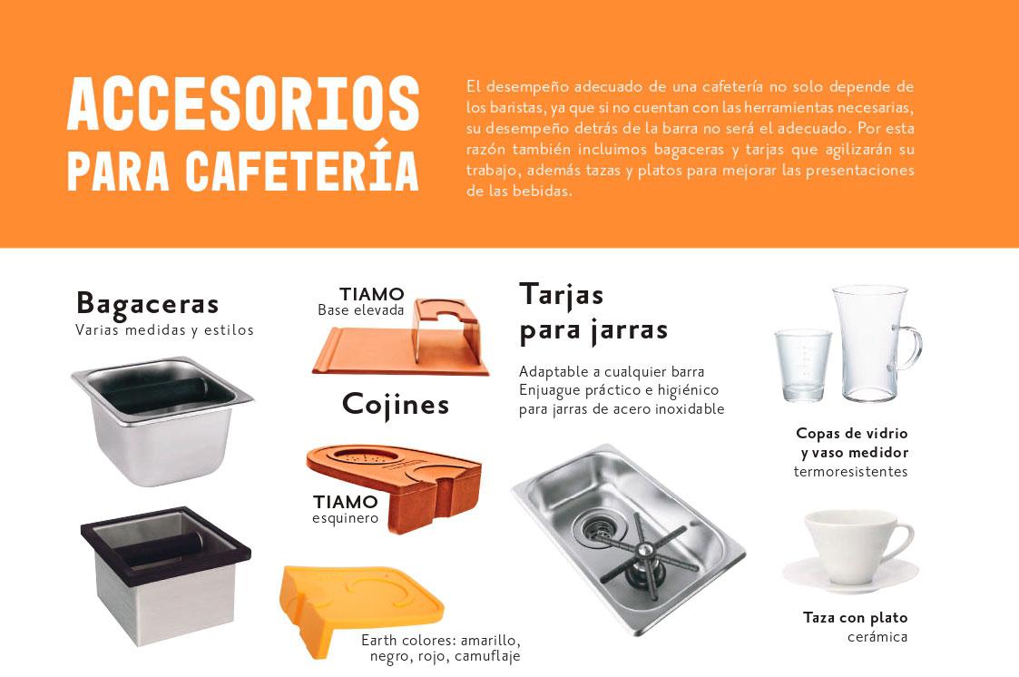 Accesorios para cafetería