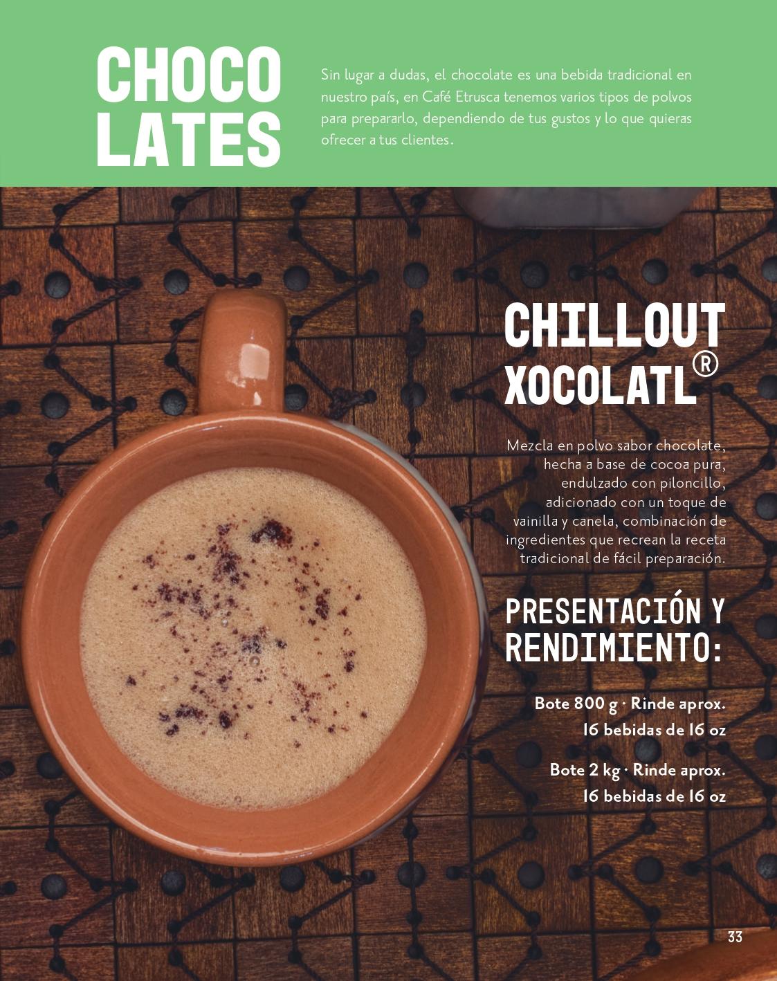 Chocolate en polvo para preparar bebidas 01